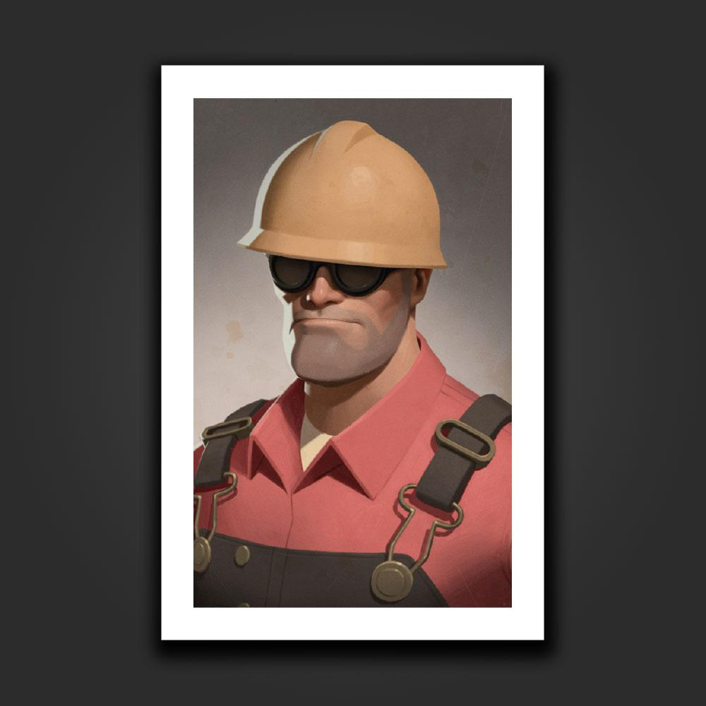 Valve StoreEngineer Portrait Art Print