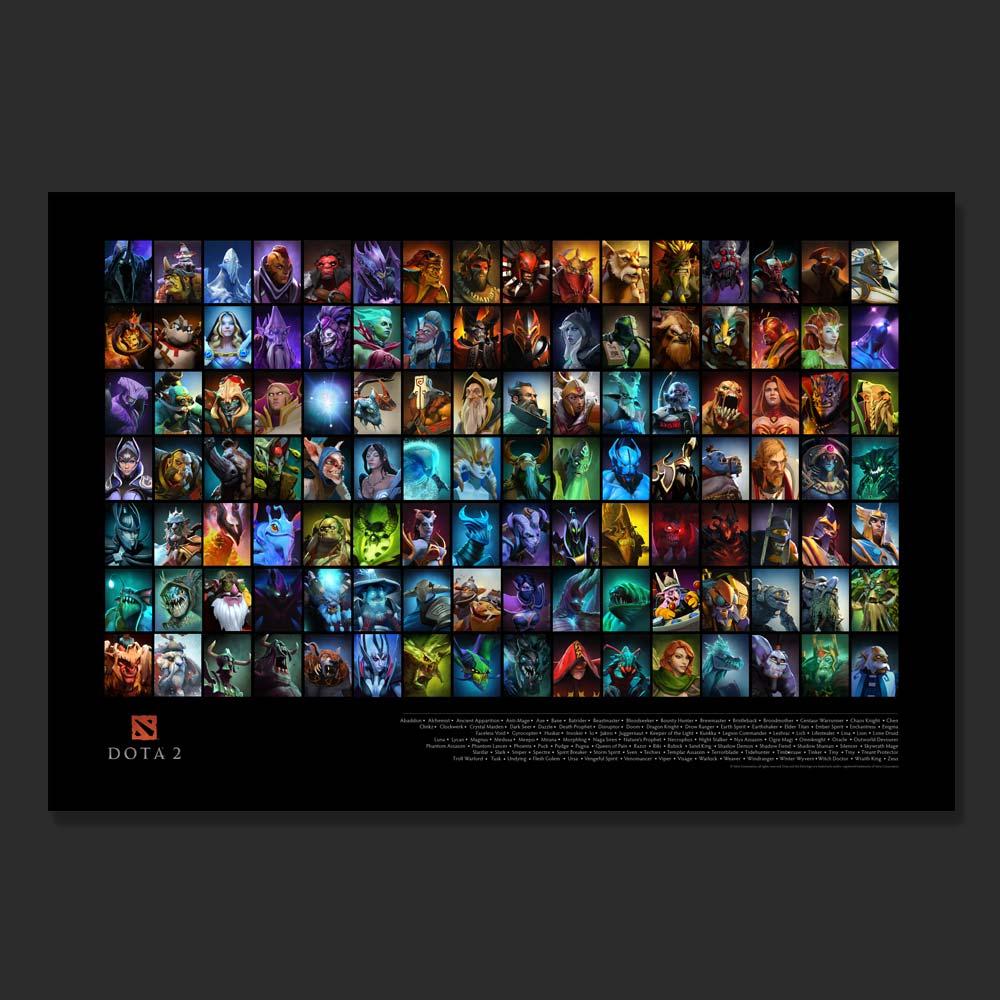 Valve Store2015 DOTA 2 Hero Roster Poster