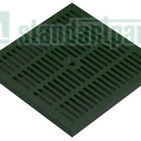 Решетка водоприемная PolyMax Basic РВ-28.28-ПП ячеистая пластиковая зеленая кл.А 3380-С