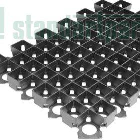 Решетка газонная РГ-60.40.3,8 пластиковая черная