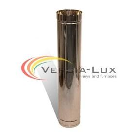 Труба дымоходная L=1м нерж/оц. 0,8мм