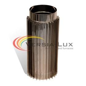 Труба-радіатор димохідна L=1,0м нерж 1,0мм