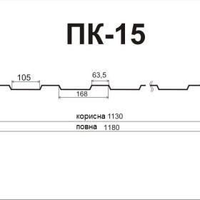 Профнастил ПК-15 0,4 мм глянець Китай