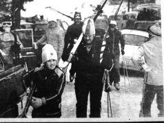 Jovica sa tatom Miodragom, istaknutim smucarskim radnikom, na Prvestvu BiH na Jahorini 1972.godine