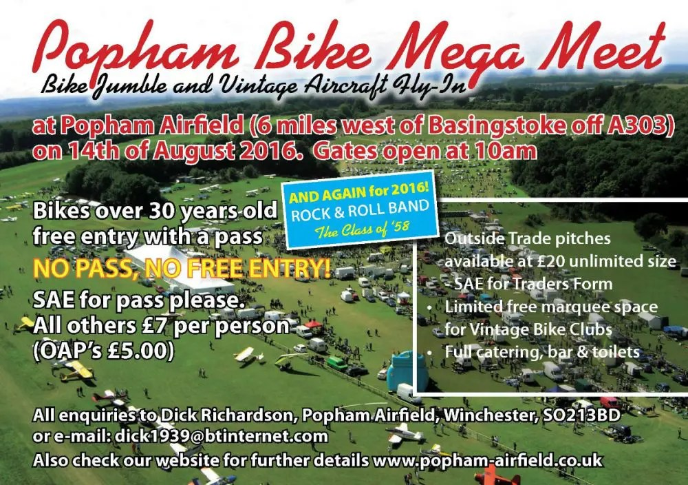 Popham Mega Bike Meet 2016