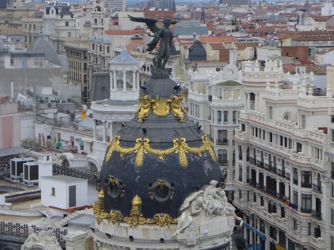 From the rooftop of Circulo de Bellas Artes.