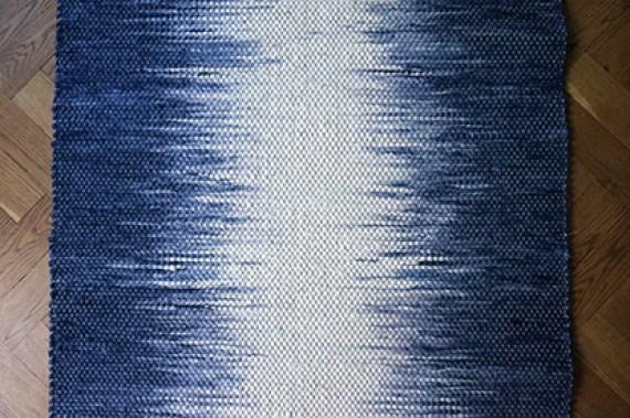 Grande Melange No 1 Rag Rug Ikat dyeing technique.