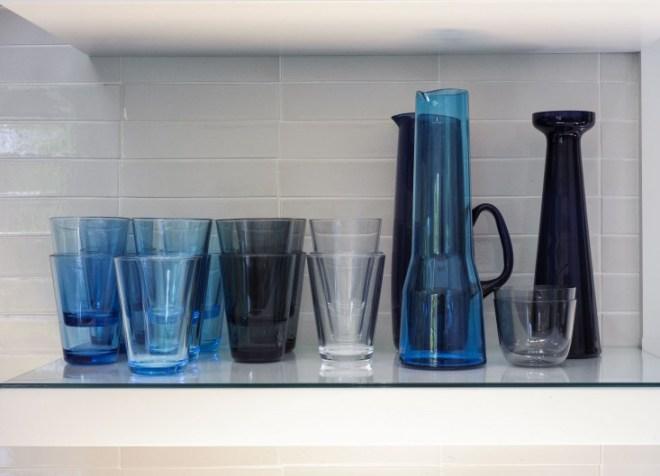 Iittala Kartio glasses and pitchers.