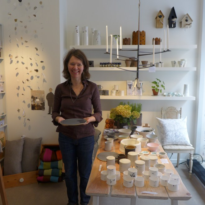 Karin Eriksson, Central St. Martins graduate in Ceramics. Beautiful, light and delicate ceramics and clay mobiles. With her workshop at the back, this store is filled with not only her ceramics but a small selection of gorgeous handcrafted items as well. Manos - Renstiernas gata 22.