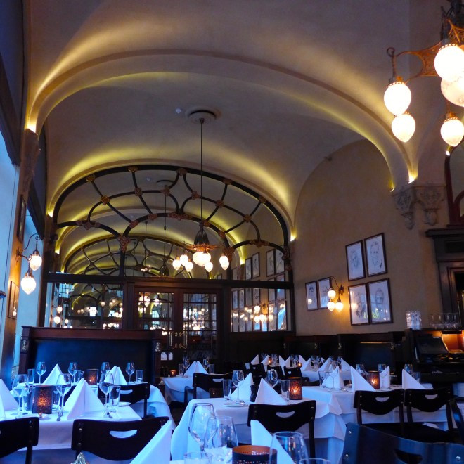 The Art Nouveau Theatercafeen, opposite the National Theatre is full of charm, and good food.