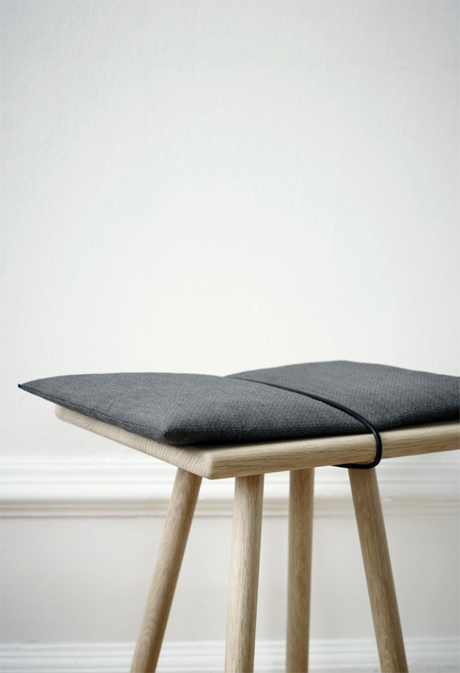 Georg Stool in Oak. Winner of the Red Dot Award 2014.