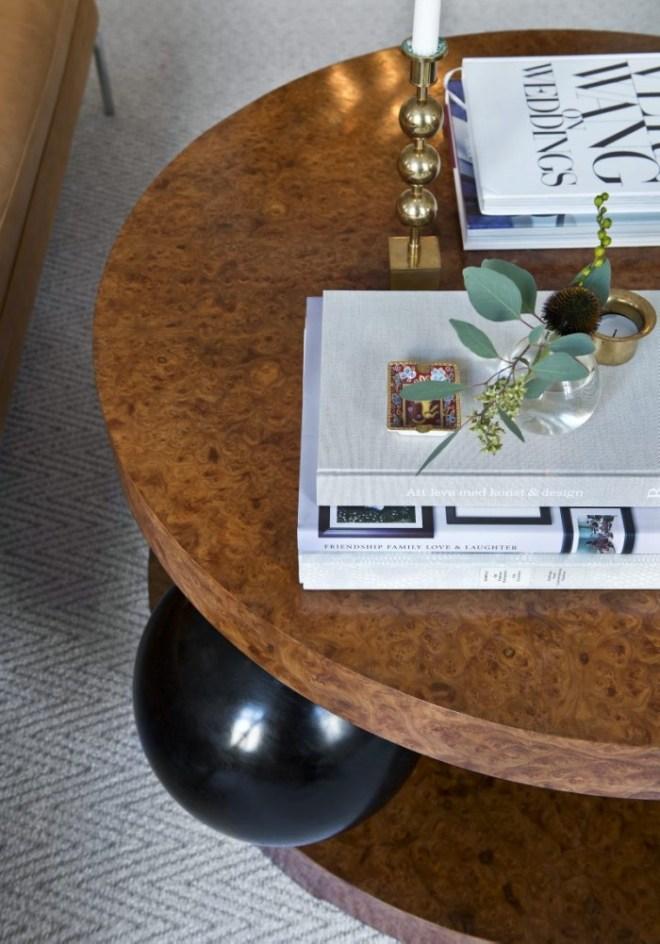 Art Deco Klot-Johan coffee table by Erik Johansson from the 1940's.