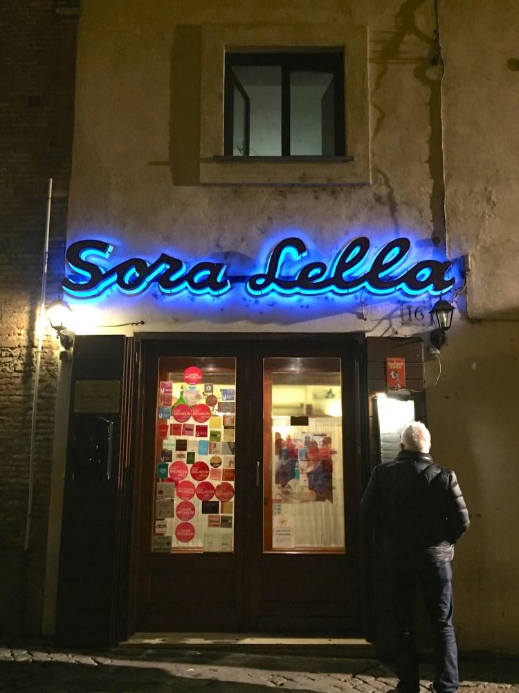 Sora Lella on Isola Tiberina.