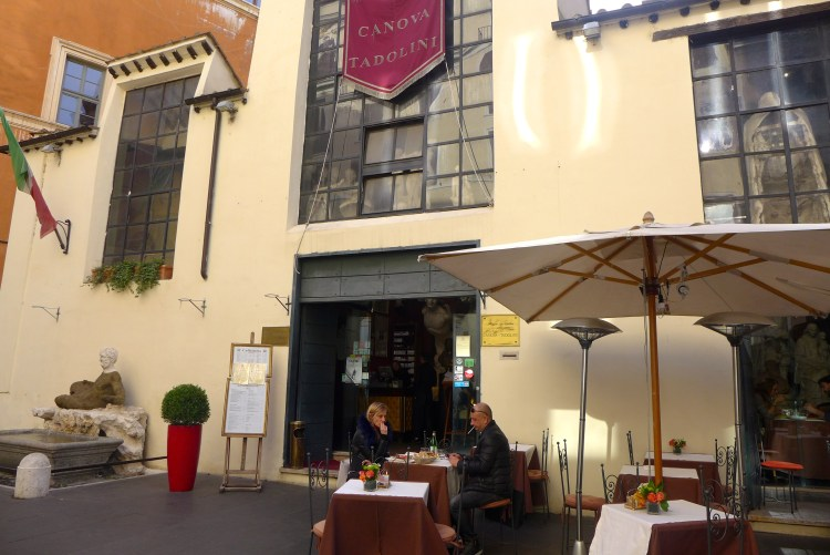 Located on Via Del Babuino, the Caffè Canova-Tadolini was once a sculpture atelier, it now serves delicious pastries and an excellent cappucino.