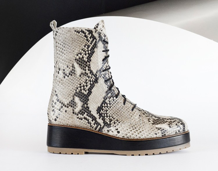 Reschia Rugged Boot in Python. AW16