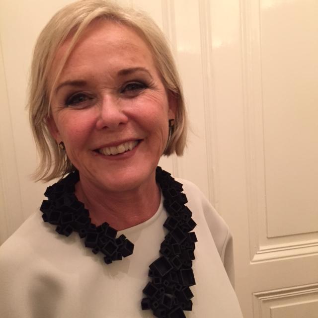 Inger Wästberg in a Necklace by Hedvig Westermark.