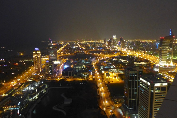 View from the 51st Floor overlooking the Dubai Marina.