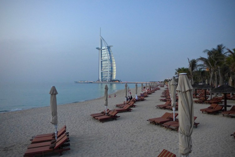 The beach at Al Qasr.