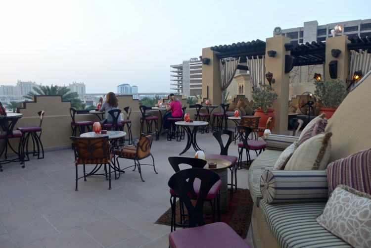 Rooftop bar at The Royal Mirage.
