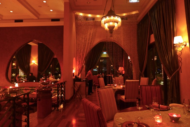 Restaurant Nina at the Royal Mirage, warm elegant space that serves delicious Indian food with a European twist in the most exquisite flavours. And impeccable service.