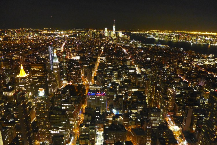 From the observatory of the Empire State Building.