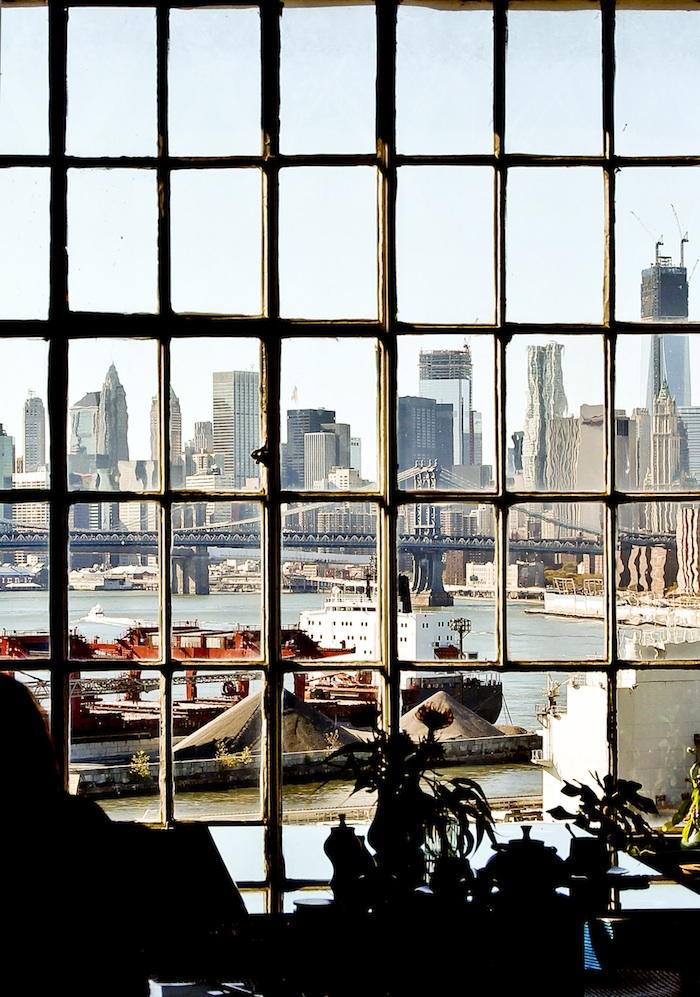 Manhattan view from an atelier in Williamsburg. Ida Magntorn. V Söderqvist Blog.