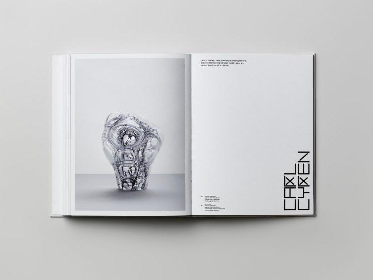 Book celebrating 5 years of Fiberspace Gallery. Marcia Harvey Isaksson. V Söderqvist Art & Design Talks. Photo: Patrik Lindell..