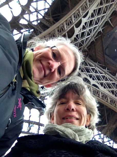 Melinda and me under the Eiffel Tower