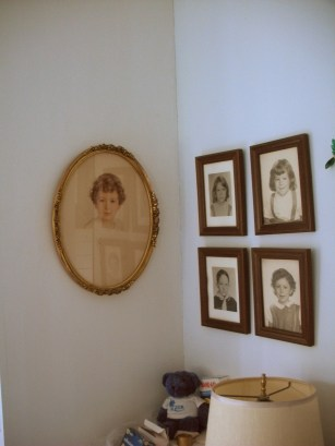 The cherub was my mother, the other four are pictures of me and my siblings.