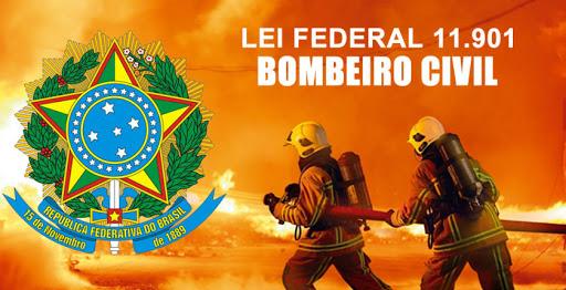 Legislações que ampara o Bombeiros Profissional Civil no estado da Bahia: Lei Federal 11.901, de 12 de Janeiro de 2009 e a Portaria n.º 012 CG - CBMBA/17 de 11/04/2017 (IT-17/2016).