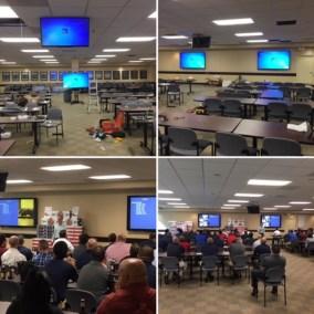 Audio Visual Upgrade. General Sales Meeting Room. Chantilly, VA.