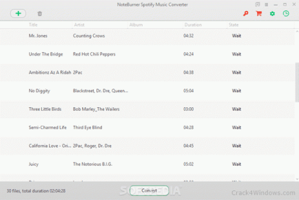 NoteBurner Spotify Music Converter 2.2.4 with Crack [Latest] Download