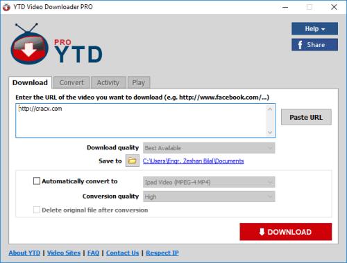 YTD Video Downloader Pro v7.7.7 Crack With License Key [Full Version]