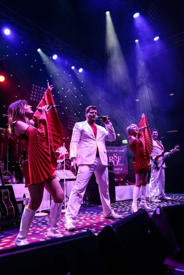 January 22, 2017 - Neckarsulm, Germany. ABBA fever at Oldie Night in Audi Forum, Neckarsulm. (Credit Image; vstudio.photos)