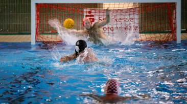 Ludwigshafen - 08.12.2018: Wasserball in Ludwigshafen (), Germany on December 8 2018. Photo by: vstudio.photos