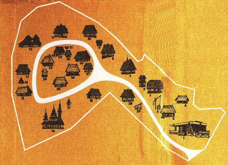 Схема музею  Матеріал carpatho-rusyn.org
