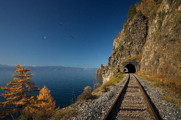 Транссибірська залізнична магістраль, найдовша залізниця у світі (Росія)