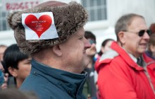 Hundreds protest budget cuts for mentally ill, developmentally disabled