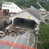 The covered bridge leading into the village of Quechee, as it appeared Saturday, September 3. Photo by Duane Beckwith.
