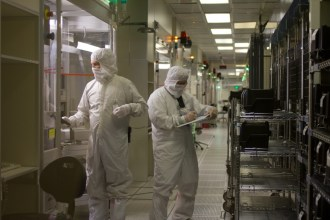 IBM manufactures microchips at its plant in Essex Juntion. Photo by Nat Rudarakanchana/VTDigger