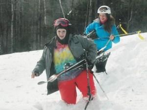 Stowe skiers