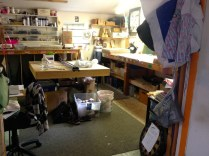 An artists studio in the Howard Center art studio spaces at the 400 block of Pine Street in Burlington, on Aug. 12, 2015. Photo by Jess Wisloski/VTDigger
