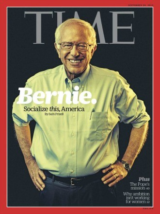 Sanders Time magazine cover