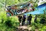 Welcom sign at the gate. Photo by Sarah Olsen/VTDigger
