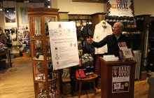 Welch helps highlight ripple effect of local holiday shopping