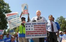 Sanders brings Democrats along on $15 minimum wage push