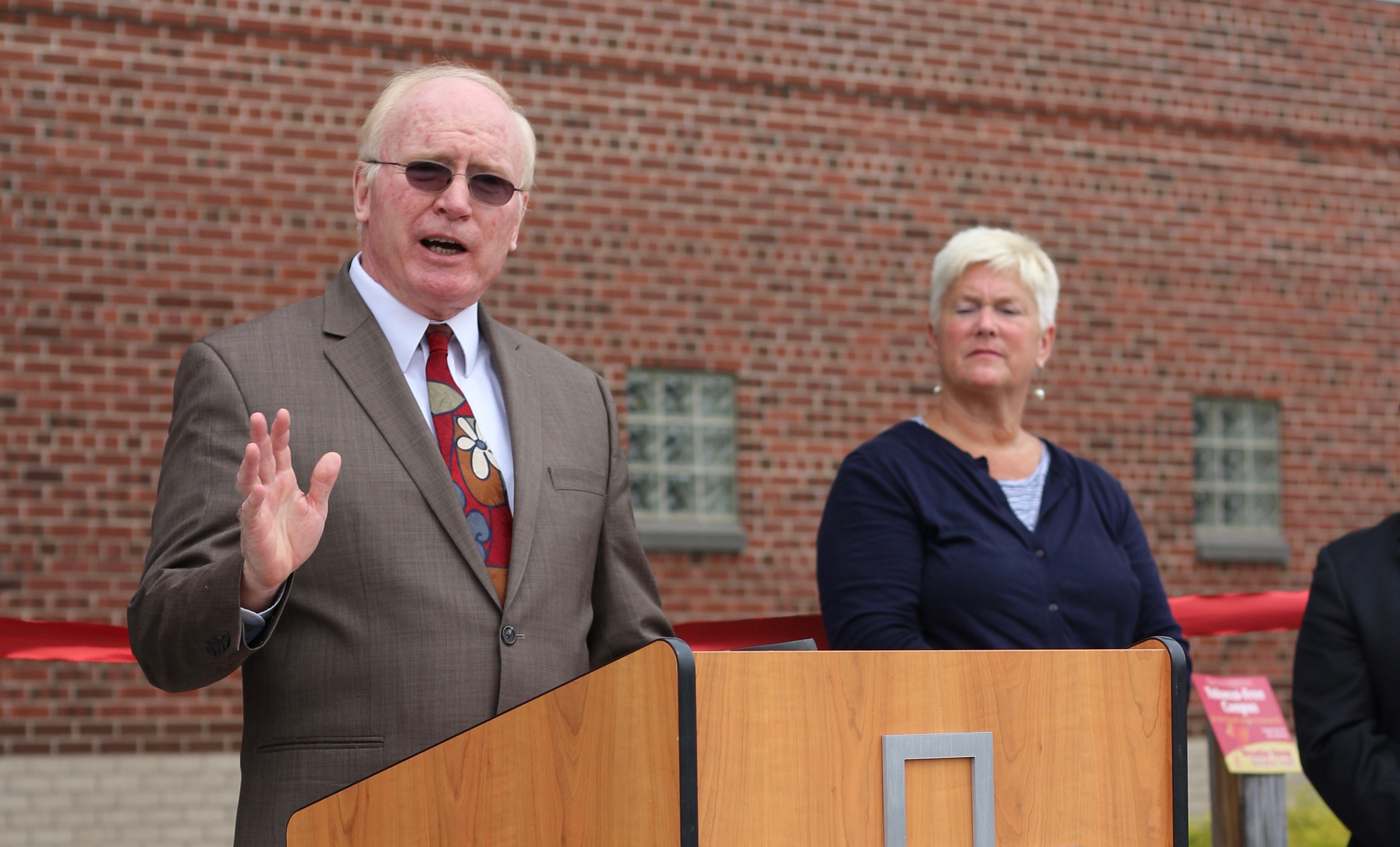 Kevin Mullin, The Chair Of The Green Mountain Care Board, Speaks At Rutland  Regional Medical Center. File Photo By Erin Mansfield/VTDigger