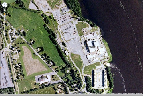 Google Earth image of the Vermont Yankee plant in Vernon, Vt.