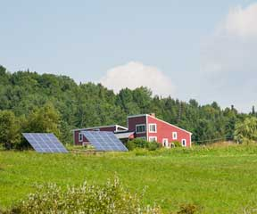 Solar panels in East Montpelier. VTD/Josh Larkin
