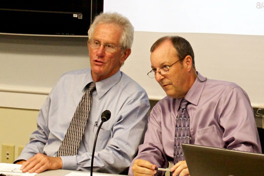 BISHCA Commissioner Steve Kimbell and his Deputy Commissioner Mike Davis heard public comments today regarding proposed state hospital budgets for 2012. VTD/Taylor Dobbs